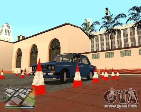 El circuito, como en la escuela de conducción para GTA San Andreas
