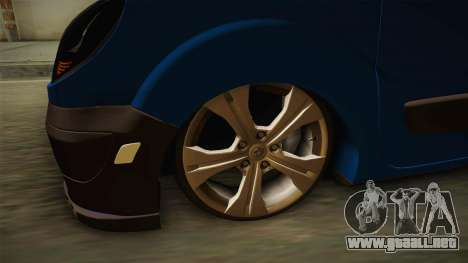 Renault Kangoo para GTA San Andreas vista hacia atrás