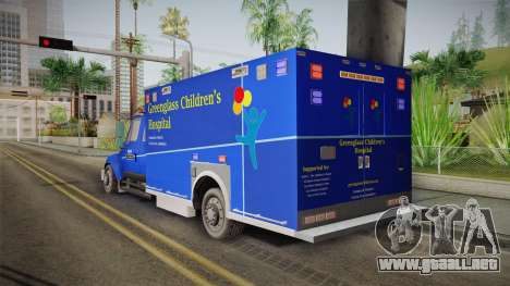 International Terrastar Ambulance 2014 para GTA San Andreas left