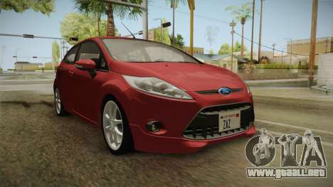 Ford Fiesta 2009 para GTA San Andreas