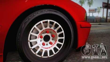BMW 530d E39 Red Black para GTA San Andreas vista posterior izquierda