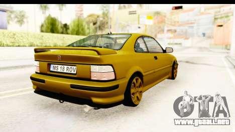 Rover 220 Gold Edition para la visión correcta GTA San Andreas