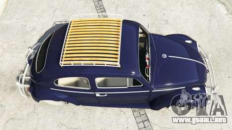 GTA 5 Volkswagen Fusca 1968 v0.9 [add-on] vista trasera