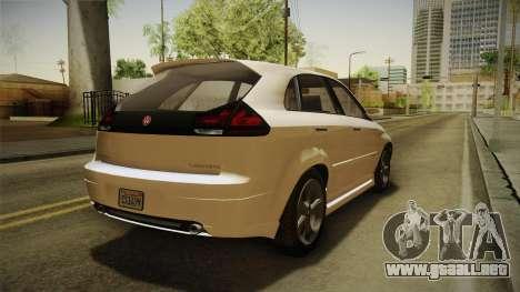 GTA 5 Emperor Habanero IVF para GTA San Andreas vista posterior izquierda