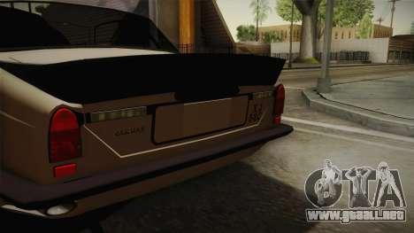 Jaguar Broadspeed XJC para GTA San Andreas vista posterior izquierda