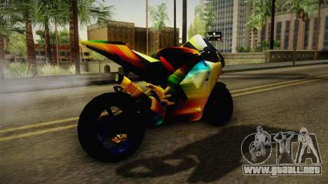Rainbow Motorcycle para la visión correcta GTA San Andreas