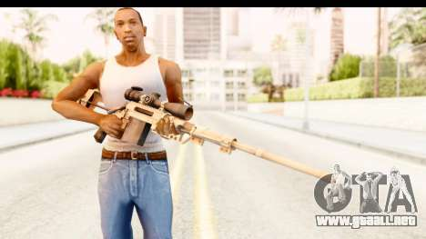 Cheytac M200 Intervention Tan para GTA San Andreas tercera pantalla