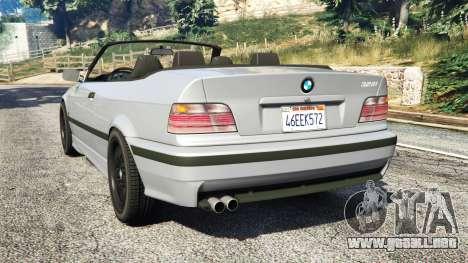 GTA 5 BMW 328i (E36) M-Sport [replace] vista lateral izquierda trasera