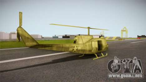 Bell UH-1H from Army Men: Serges Heroes 2 DC para GTA San Andreas left