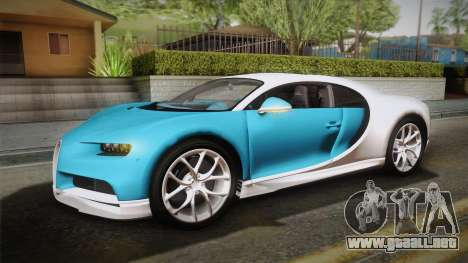 Bugatti Chiron 2017 v2.0 Italian Plate para GTA San Andreas vista hacia atrás