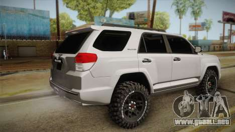Toyota 4runner 2010 para GTA San Andreas left