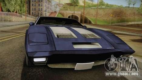 AMC AMX 3 39 1970 para GTA San Andreas vista posterior izquierda