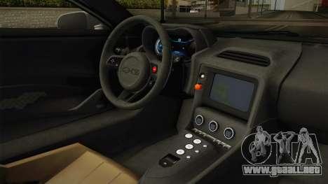 Jaguar C-X75 Ika Musume Itasha para visión interna GTA San Andreas