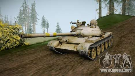 T-62 Desert Camo v1 para la visión correcta GTA San Andreas
