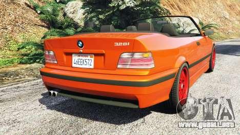 GTA 5 BMW 328i (E36) M-Sport v1.1 [replace] vista lateral izquierda trasera