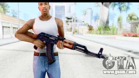 Kalashnikov AKM para GTA San Andreas tercera pantalla