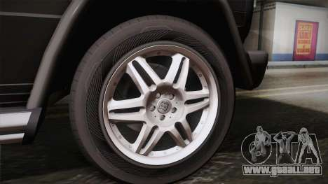 Mercedes-Benz G500 para GTA San Andreas vista posterior izquierda