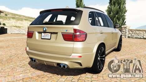 GTA 5 BMW X5 M (E70) 2013 v1.2 [add-on] vista lateral izquierda trasera