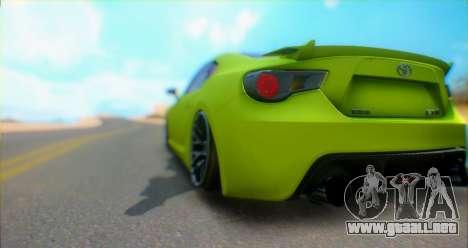 Toyota GT86 2015 Stance para la visión correcta GTA San Andreas