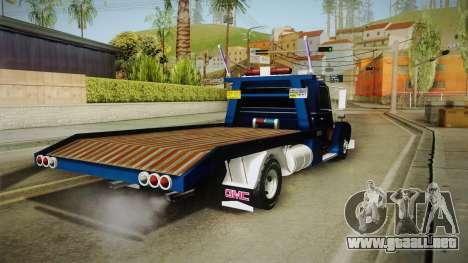 GMC 4100 1950 GRUA para GTA San Andreas left