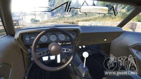 GTA 5 Plymouth Cuda BeckKustoms delantero derecho vista lateral