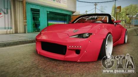 Mazda MX-5 2016 Hachiraito para la visión correcta GTA San Andreas
