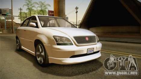 GTA 5 Emperor Habanero IVF para la visión correcta GTA San Andreas