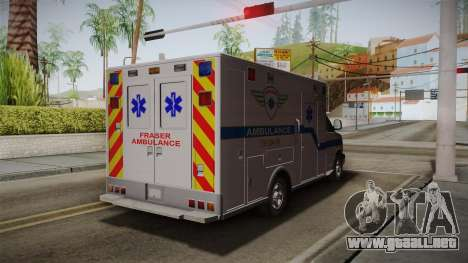 Chevrolet Express 2011 Ambulance para GTA San Andreas vista posterior izquierda