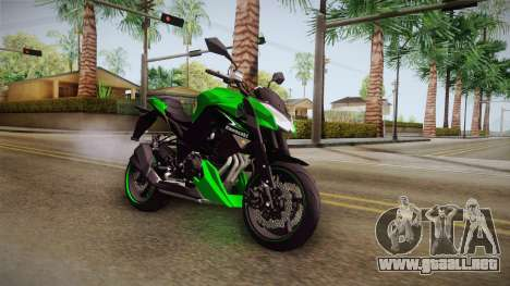 Kawasaki Z1000 para la visión correcta GTA San Andreas