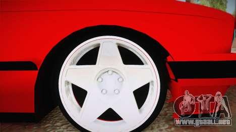 BMW M3 E30 Sedan para GTA San Andreas vista hacia atrás