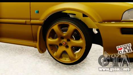Rover 220 Gold Edition para GTA San Andreas vista hacia atrás
