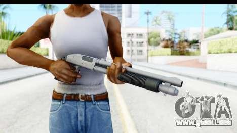 Tactical Mossberg 590A1 Chrome v1 para GTA San Andreas tercera pantalla