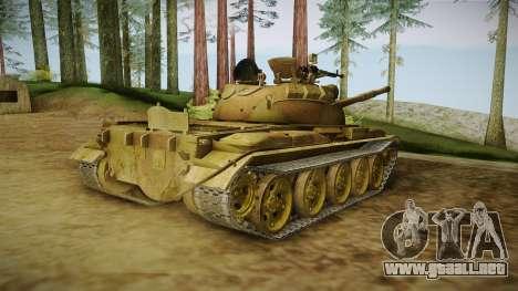 T-62 Desert Camo v3 para GTA San Andreas left
