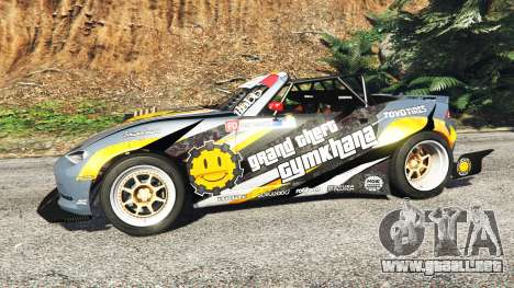GTA 5 Mazda MX-5 (ND) RADBUL Mango [replace] vista lateral izquierda