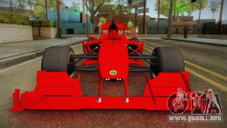Lotus F1 T125 para la visión correcta GTA San Andreas
