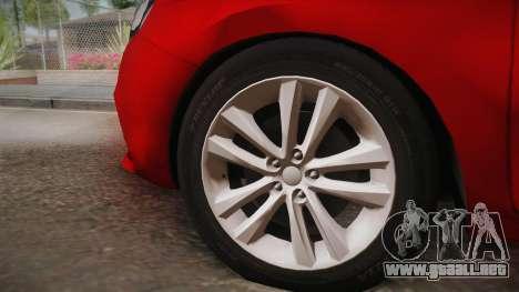 Lada Vesta Sedan para GTA San Andreas vista posterior izquierda