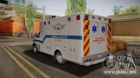 Chevrolet Express 2011 Ambulance para GTA San Andreas left