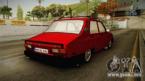 Dacia 1310 TX 1986 v2 para GTA San Andreas vista posterior izquierda