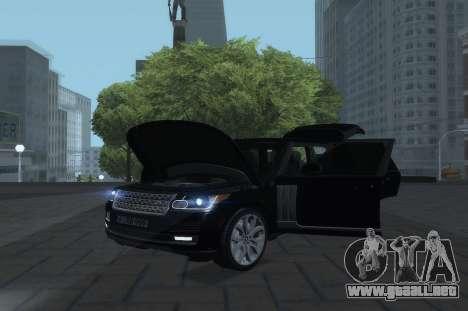 Land Rover Range Rover Vogue para la visión correcta GTA San Andreas