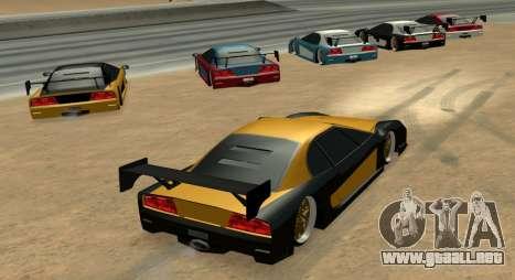Turismo Major Ver.2 para GTA San Andreas vista posterior izquierda