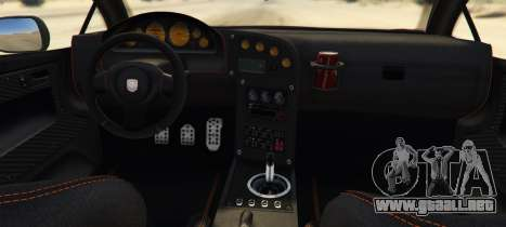 GTA 5 Pegassi Vacca RocketCow Widebody vista lateral izquierda trasera