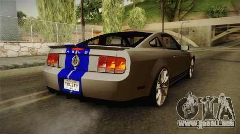 Ford Mustang Shelby GT500KR Super Snake para GTA San Andreas left