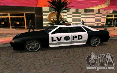 Elegy Police para GTA San Andreas left
