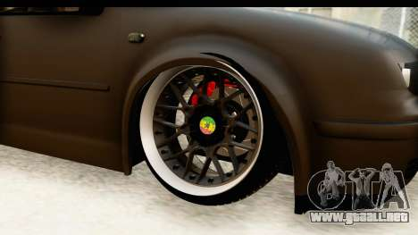Volkswagen Bora Pickup para GTA San Andreas vista hacia atrás