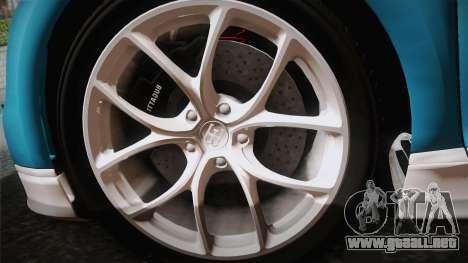 Bugatti Chiron 2017 v2.0 Italian Plate para la visión correcta GTA San Andreas