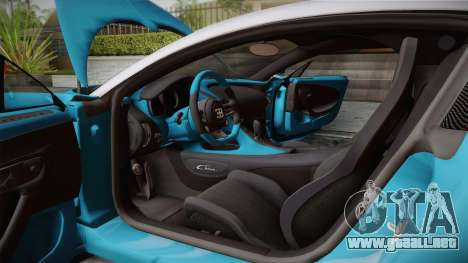 Bugatti Chiron 2017 v2.0 Italian Plate para visión interna GTA San Andreas