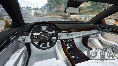 GTA 5 Audi A8 L (D4) 2013 [replace] delantero derecho vista lateral