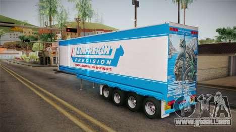 Trailer 4 Axle para la visión correcta GTA San Andreas