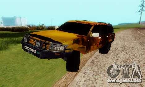 Toyota Land Cruiser 105 para GTA San Andreas vista hacia atrás