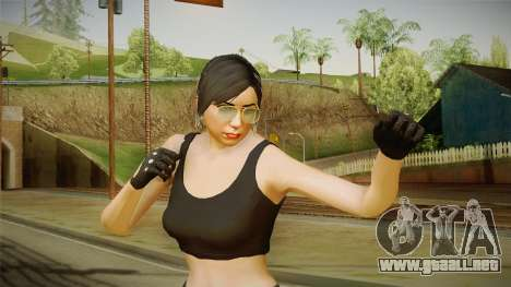 GTA 5 Heists DLC Female Skin 2 para GTA San Andreas